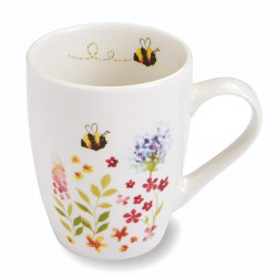 White Ceramic Mug Bee Collection 250ml