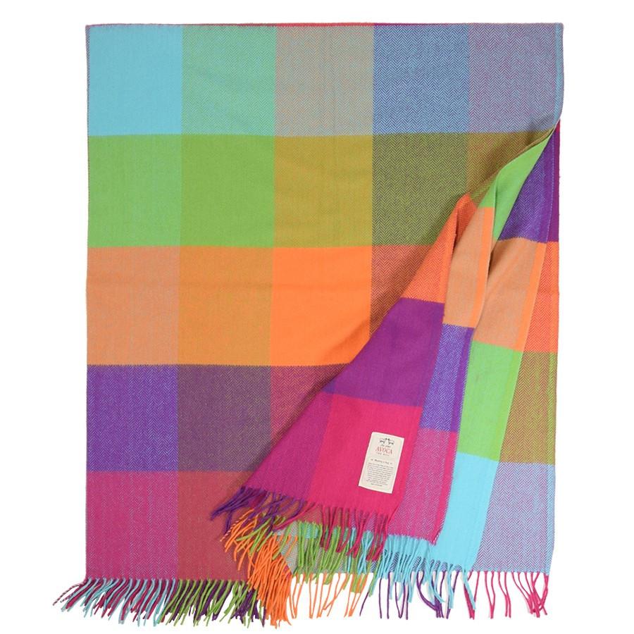 plaid laine cachemire multicolore avoca. Black Bedroom Furniture Sets. Home Design Ideas