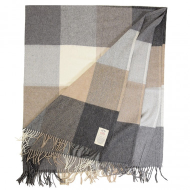 Avoca Beige Wool/Cashmere Plaid