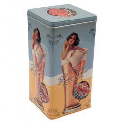 "Retro Style Box ""Lady in a Glass"""