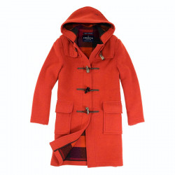 London Tradition Mottled Orange Emily Duffle-Coat