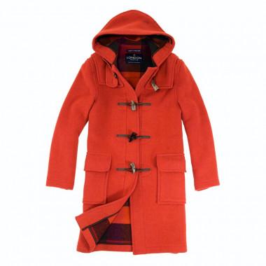 London Tradition Mottled Orange Emily Duffle-Coat