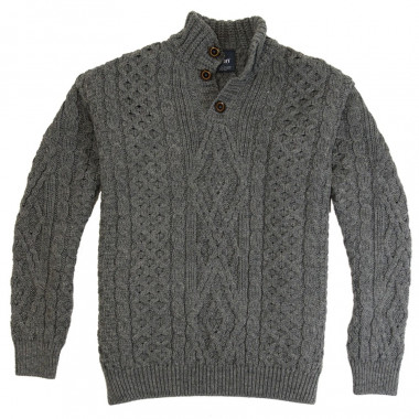 Aran Woollen Mills Grey Sweater