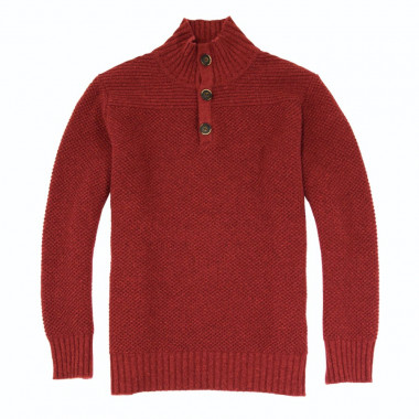 Out Of Ireland Bordeaux High Collar Sweater
