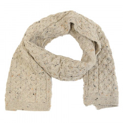 Inis Crafts Mottled Beige Honeycomb Scarf