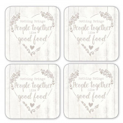 Coasters x4 Food For Thought