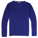 Best Yarn Blue V Collar Sweater
