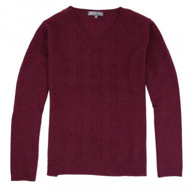 Best Yarn V Collar Bordeaux Sweater