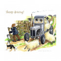 Dessous de Verre Sheep Driving
