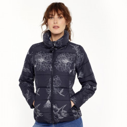 Tom Joule Navy & White Flowers Down Jacket
