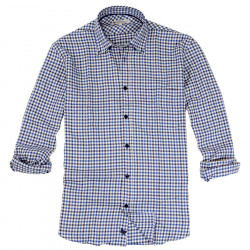 Out Of Ireland Gingham Blue Shirt