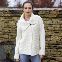 Peregrine Ecru Wide Collar Cardigan
