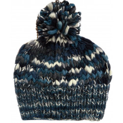 Kusan Mixed Blue Wool Pompon Hat